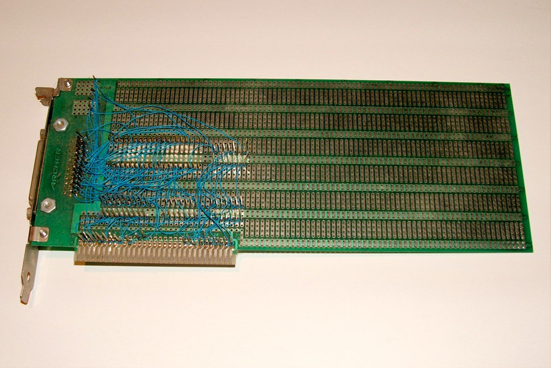 """This is the """"back"""" of the PC ISA card."""