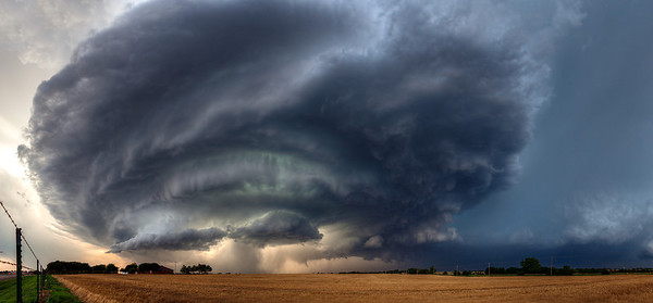 """""""The Beast""""  Piedmont, Oklahoma Technical Details: Shot with Canon 5d mk2 and Canon 24-70mm lens at F10 and 1/8.    Panorama created from 10  vertical shots."""