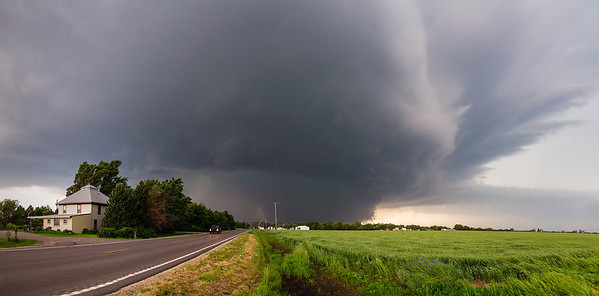 """""""The Bennington Monster""""  Bennington, KS Technical Details: Shot with Canon 6d and Canon 24-105mm lens at F8 and 1/200.    Panorama created from 10  vertical shots."""