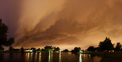 """""""Gust Front""""  Allen, TX Technical Details: Shot with Canon 6d and Canon 24-105mm lens at F8 and .5 seconds.    Panorama created from 8  vertical shots."""
