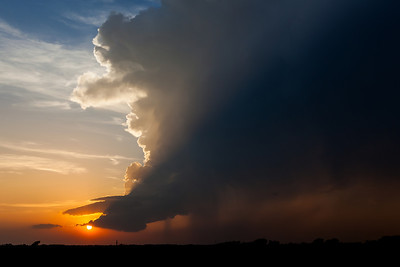"""""""Light and Shadow""""  Sanger, TX A small supercell storm is illimuniated by the late day sun near the town of Sanger, TX. Technical Details: Shot with Canon 5D MK2 and Canon 24-70L lens at F10 and 1/60 seconds."""