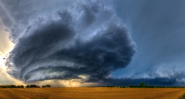 """The Beast""  Piedmont, Oklahoma Technical Details: Shot with Canon 5d mk2 and Canon 24-70mm lens at F10 and 1/8.    Panorama created from 10  vertical shots."