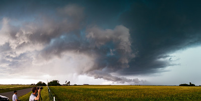 """Watching and Waiting""  Central Oklahoma Technical Details: Shot with Canon 6d and Canon 24-105mm lens at F8 and 1/200.    Panorama created from 10  vertical shots."