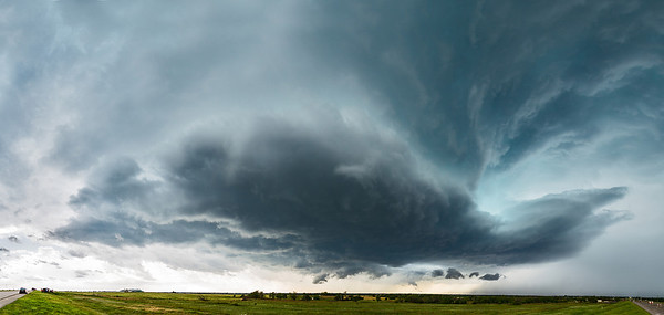 """""""The Vault""""  Western Oklahoma Technical Details: Shot with Canon 6d and Canon 24-105mm lens at F8 and 1/200.    Panorama created from 10  vertical shots."""