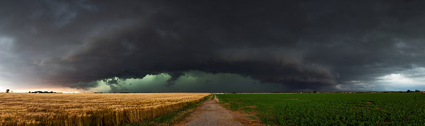 """""""The End of a Bad Day""""  Minco, OK Technical Details: Shot with Canon 6d and Canon 24-105mm lens at F8 and .5 seconds.    Panorama created from 10  vertical shots."""