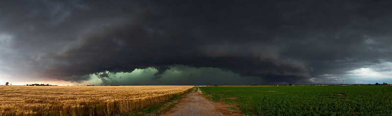 """The End of a Bad Day""  Minco, OK Technical Details: Shot with Canon 6d and Canon 24-105mm lens at F8 and .5 seconds.    Panorama created from 10  vertical shots."