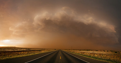 """Western TX Supercell""  Paducah, TX  One of my favorite hobbies after photography is storm chasing.  Experiencing the power and beauty of thunderstorms is something that is really hard to translate into images. Technical Details: Shot with Canon 6d and Canon 24-105mm lens at F10 and 1/8.    Panorama created from 6 vertical shots."