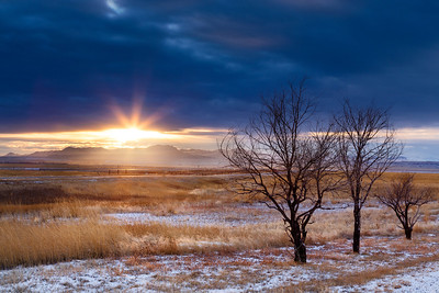 """""""Montana Winter Sunset""""  Plano, TX Technical Details: Shot with Canon 6D and Canon 24-105L lens at F16 and 1 second."""