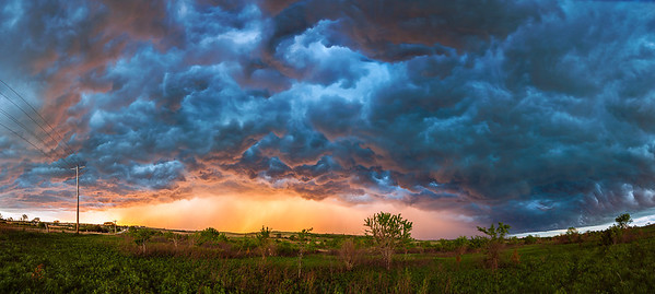 """Whales Mouth""  Ponca City, OK Sometimes even a bad storm chase day can turn into something incredible at sunset. Technical Details: Shot with Canon 5d MK2 and Canon 25-105L lens.  Panorama stitched from 8 vertical shots."