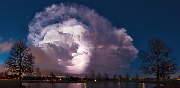 """""""When it All Comes Together""""  Allen, TX Sometimes you get lucky and everything you want comes together in a scene you are shooting.  This happened with this picture, shot back in March of 2014. Technical Details: Shot with Canon 5d MK2 and Canon 25-105L lens.  Panorama stitched from 8 vertical shots."""