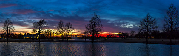 """Second Sunset""  Allen, TX Technical Details: Shot with Canon 6d and Canon 24-105mm lens at F8 and 1 second.    Panorama created from 4  horizontal shots."