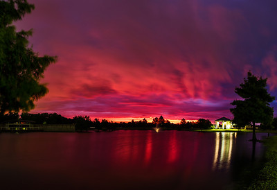 """Sunrise Glory""  Allen, TX Technical Details: Shot with Canon 6d and Canon 24-105mm lens at F8 and 1 second.    Panorama created from 4  vertical shots."