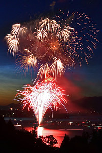 """Independence Day""  Flathead Lake, MT I love fireworks!  Ever since I was a kid I loved the celebrating the 4th of July and experiencing the excitement of fireworks.  As I have grown older I have found a new way to experience fireworks by capturing them with my camera.  I shot this image a few years back while visiting my family in Montana.  I camped out at this spot for 2 hours to secure this view. Technical Details: Shot with Canon 30D and Canon 20mm lens at F10 and 10 seconds."