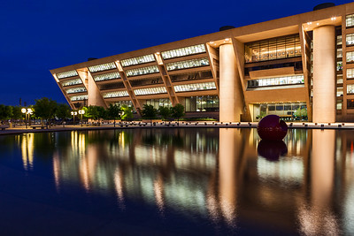 """""""Dallas City Hall""""  Dallas, TX Technical Details: Shot with Canon 5d MK2 and Canon 24-70 L lens."""