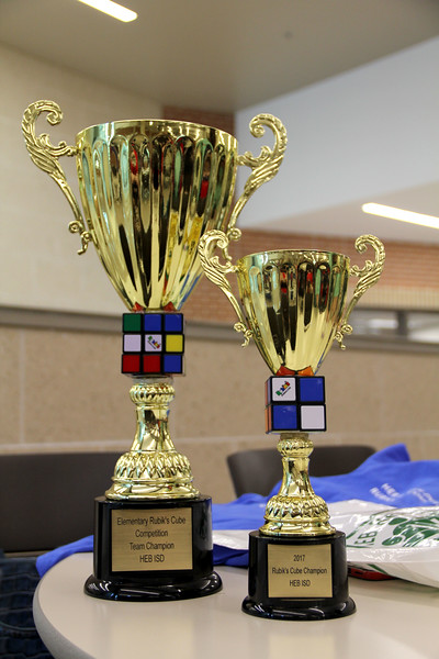 The trophies for the winners of the contests.