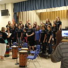 Choir performs for guests.