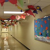 Decorated hallway for event.