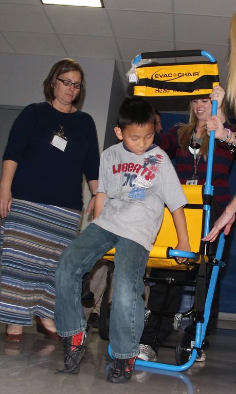 Evac Chair Demonstration 2014