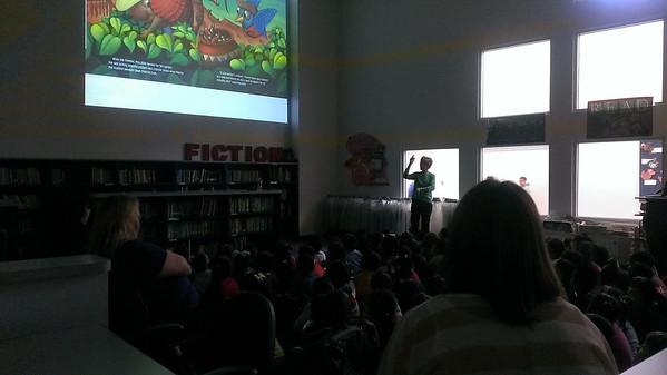 Author Helen Ketteman visit, December 5, 2013
