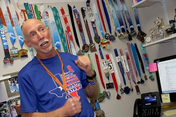 Mr. Muston ready for the Boston Marathon