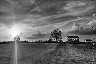 Farmhouse with Sun