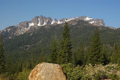 Sierra Buttes in June, Sierra Nevada Mtn. Chain