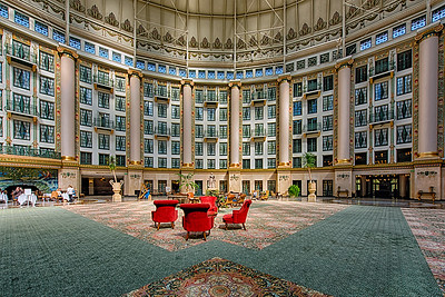 French Lick, Indiana. National Historic Landmark, West Baden Springs Hotel.