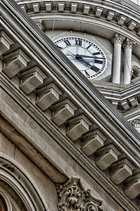 Close-up of building detail: Tippecanoe County Courthouse, Lafayette, Indiana.