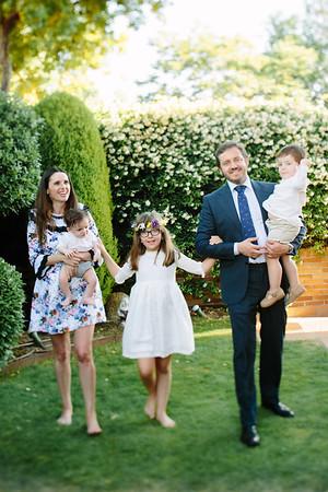 Elena, Alfonso y familia