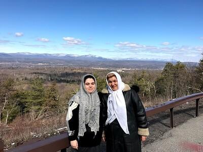 Катскильские горы, штат Нью-Йорк, США. За ними лежит Св. Троицкий Джорданвилльский монастырь.