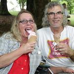 Lorraine Humphrey and Slider.