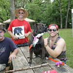 Keith Peters, Geoff Wohl, Zoey and Zach Wohl.