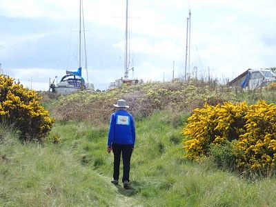 Coastal path into Findhorn