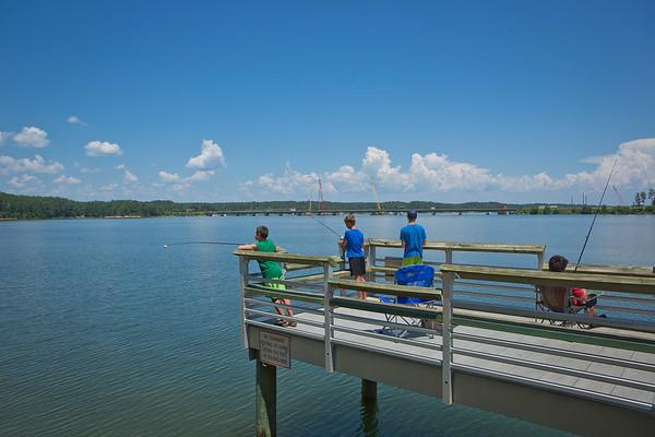 Pier Fishing at Elijah Clark