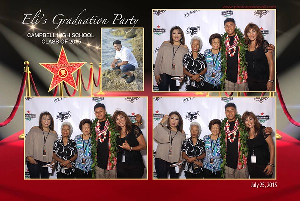 Eli's Graduation Party (Fusion Photo Booth w/ custom backdrop)