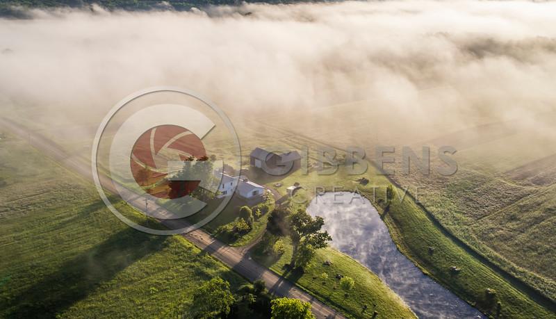 Edinboro PA  Farm in Fog