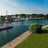 Flagship Niagara traveling through channel