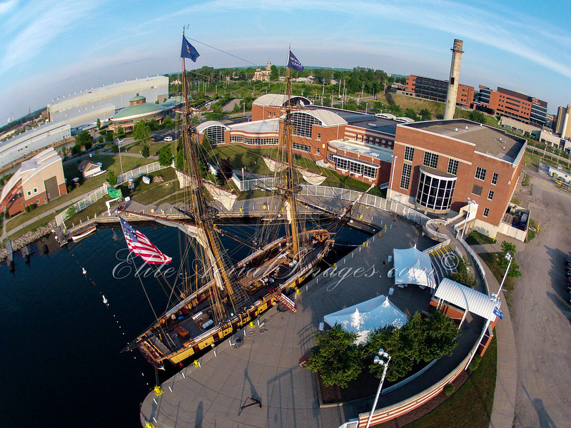 Flagship Niagara in dock at the Erie Maritime Museum