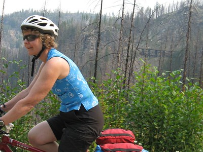 Trail Ride in Myra Canyon BC