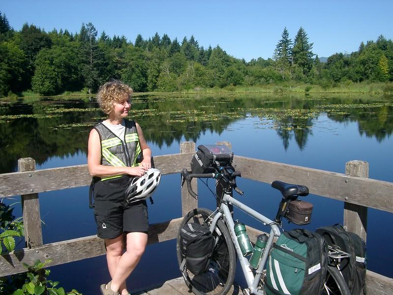 Trail Ride in Lake Cowichan BC