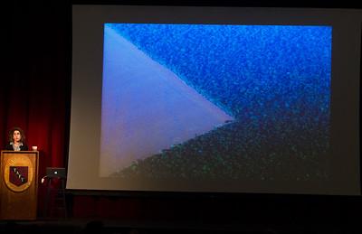 Elizabeth Kolbert speaks during Morning Meeting