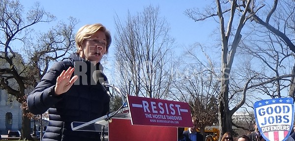 Elizabeth Warren At Our Revolution Rally On SEC Nominee In Washington, DC