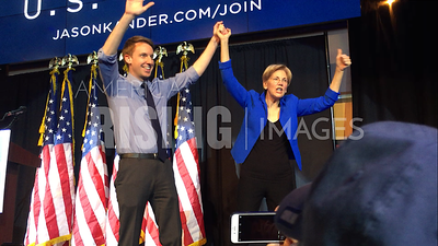 Elizabeth Warren At Jason Kander Campaign Rally In Kansas City, MO
