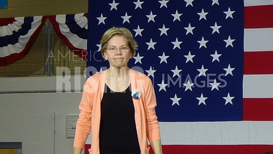 Elizabeth Warren At Campaign Rally In Raleigh, NC