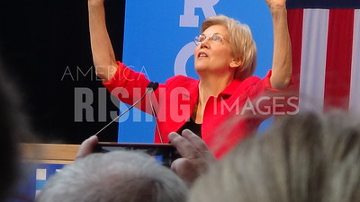 Elizabeth Warren At Hillary Clinton Campaign Rally With Russ Feingold In Madison, WI