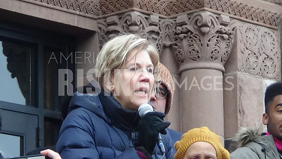Elizabeth Warren At MLK Helping Hands Day In Cambridge, MA