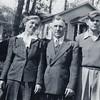 Elizabeth, Sebastian, Donald, and Connie at Slocum Lake, 1940s