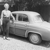 Margie with her Renault in Novato, May 1963