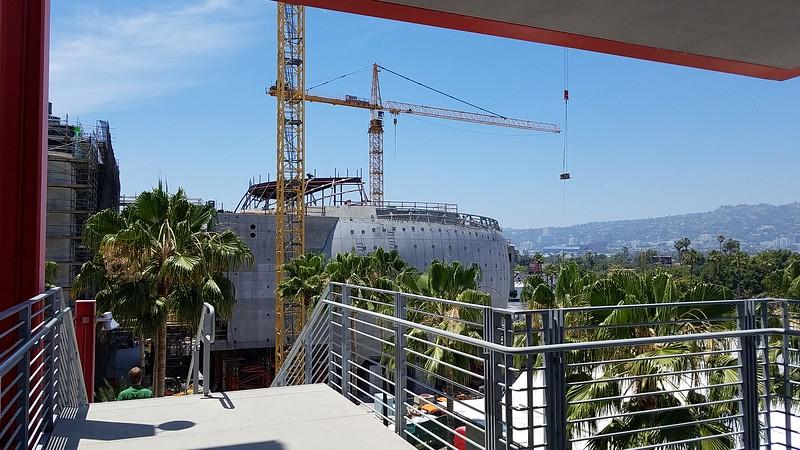 New art museum under construction. Interesting concrete work