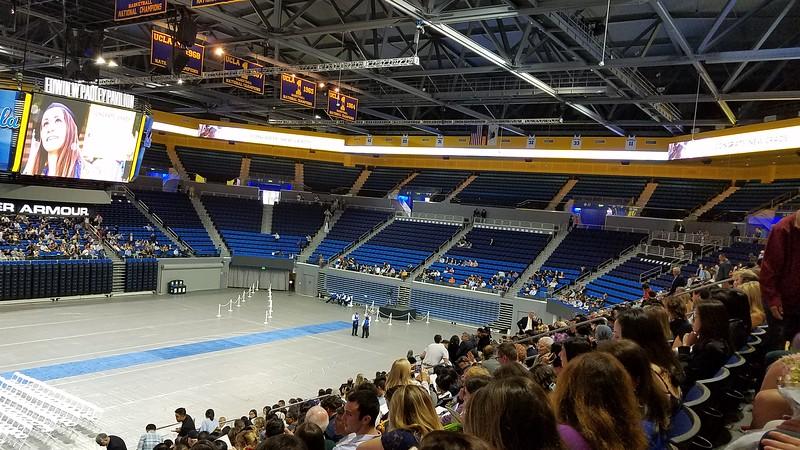 Eliza's UCLA Graduation In Field House